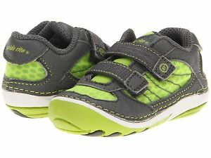 Stride Rite  Shoes Lime/Grey Soft Infants Size 4 Wide ----5 inches long