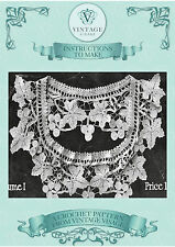 Vintage 1900s crochet pattern- How to make a very old crochet lace vine cape