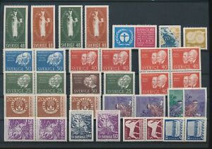 LN72186 Sweden mixed thematics nice lot of good stamps MNH