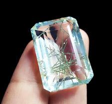 Certified Loose Gemstone Rutilated Quartz Gems 46.60 Ct