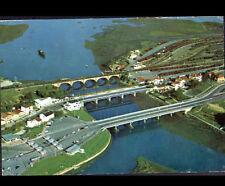 IRUN (ESPAGNE) PONT FERROVIAIRE , GARE & DOUANES FRONTIERE en vue aérienne 1975