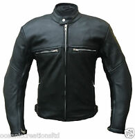 CE ARMOURED Cowhide Leather Motorcycle Motorbike Cruiser Touring Racing Jacket