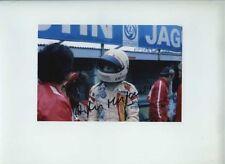 Arturo Merzario ISO Williams F1 Ritratto 1974 firmato fotografia 1
