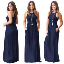 Women Summer Boho Chiffon Party Evening Beach Dresses Long Maxi Dress Sundress