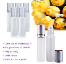 24Pcs 10ML Frosted Glass Roller Bottles for Essential Oils Glass Roller Balls AU