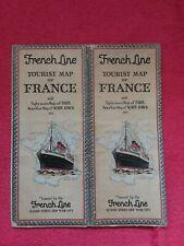 Carte Dépliant ancien/lignes maritme France et Nord Afrique/Cie FRENCH LINE