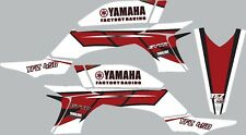 Graphics for 2003-2008 Yamaha YFZ450 YFZ 450 White Red ATV decals stickers