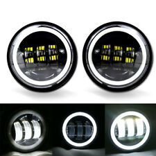 2pcs 4.5 inch LED DRL Auxiliary Fog Light Burst Cover Fit For Harley Jeep Hummer