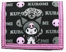 Sanrio Kuromi Black and Pink Kids Wallet, New