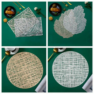 Placemat Table Decor PVC Leaf Wisps Of Leaves Hot Heat Insulation Stamping Mat