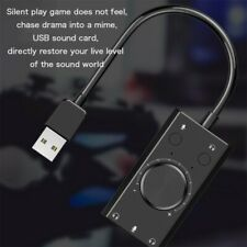 USB to 3.5mm mic headphone Jack Stereo Headset 3D Sound Card Audio Adapter