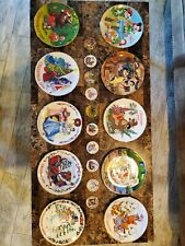 Grolier Disney Christmas Dated Disc Ornaments and Plates Set
