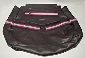 Miche Sienna Backpack Bag Purse Shell Brown Pink Gray XLarge School Office XL