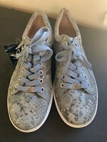 Caprice Ladies Trainers 4 37 New Leather Casual Pumps Lace Up £65 Shimmer