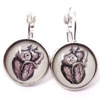 2x orecchini bigiotteria CUORE orecchino medico dottoressa infermiera cardiologa