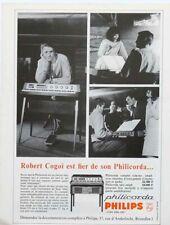 Publicité papier CLAVIER PHILICORDA PHILIPS ROBERT COGOI mars 1966 44SLP1032051