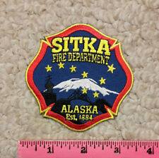 Sitka, Alaska Fire Department embroidered patch