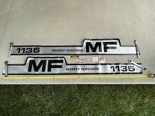 New Old Stock Massey Ferguson Mf 1135 Hood Decal Set, Caution & Service Stickers