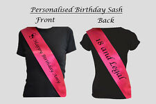 Personalise double sided sash for 18th,21st,30th,40th or any birthday/occasion