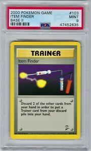 47452635 Mint PSA 9 ITEM FINDER #103/130 Rare │ Base Set 2 │ 2000 Pokemon