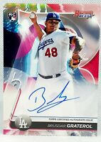 BRUSDAR GRATEROL ⭐ 2020 Bowmans Best ON CARD Rookie Refractor Auto LA Dodgers