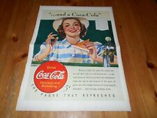 1x Vintage Magazine Ad - 1940  - COKE COCA COLA  Soda Pop - B