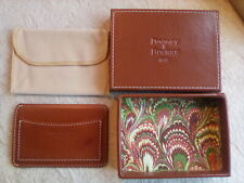 Dooney and Bourke Honey Brown Leather Card ID Holder 1975 Leather Box Dust Bag