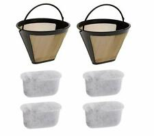 Gold Coffee Charcoal Water Filter 4 Tone Permanent 6-12 Cup for Cuisinart Coffee