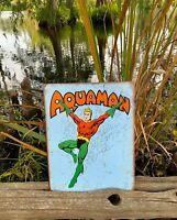 Aquaman Retro metal tin sign dc comics wall decor game room man cave kids room