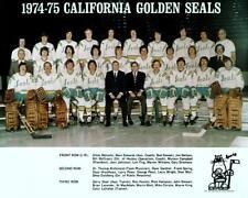 1975 CALIFORNIA GOLDEN SEALS TEAM PHOTO 8X10
