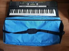 Blue canvas zippered bag.Can be used for small keyboard or other things.