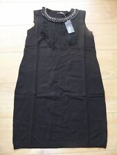 BLACK KNITTED JUMPER DRESS FROM JANE NORMAN - SIZE 14 - PARTY / GOTH / CLUBBING