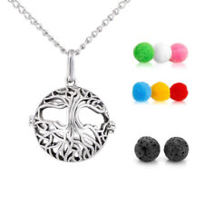 1X Tree of Life Aromatherapy Essential Oil Diffuser Necklace Pendant with Beads