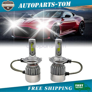 9003 H4 LED Headlight Bulbs Kit Bright Hi&Low Beam Lamp 55W 8000lm 6000K White