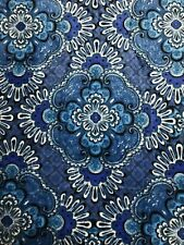 "NEW Vera Bradley Throw Blanket Blue Tapestry - 50""x80"" Supersoft Microfleece"