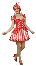Clown Costume for Women Magic Circus Dress IN Red Neck Ruff Mini Hat % Sale %