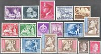 Stamp Germany Year 1942 Mi 811-27 Set WWII 3rd Reich Storm Trooper Hitler War MH