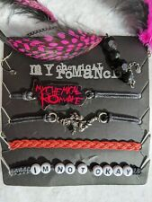 My Chemical Romance 4 Bracelets And Earring Brand New On Card