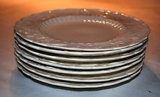 "RARE DINNER PLATES (7), MINTONS SALT GLAZE, 9"", STAFFORDSHIRE, MADE IN ENGLAND,"