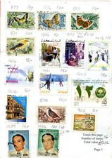 Stamps of Lebanon; 64 postally used from  recent years
