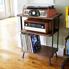Bluetooth USB Turntable Vintage Record Player Vinyl-to MP3 Nature Wood Brown