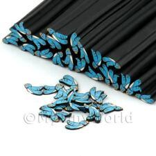 3 x fait main Argile polymère Blue Bird CANNES - Nail Art (dnc41)