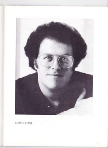 Conductor JAMES LEVINE, signed Program, Vienna Philharmonic Orchestra 1985