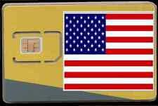 Nouveau, sans fil H2O, USA carte sim. Standard, micro et nano SIM CARD. USA. #