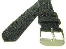 18mm  Black Stingray Skin Leather Watch Strap  WB2004
