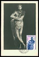 SPAIN MK 1962 BERRUGUETE HOLZSCHNITZEREI SKULPTUR CARTE MAXIMUM CARD MC CM cf68