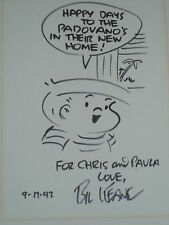 "Bil Keane signed original sketch from ""Family Circus""..61/2 x 9.."