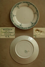 ANCIENNE ASSIETTE*SARREGUEMINES VERDUN DIGOIN E.E* FAIENCE OLD PLATE EARTHENWARE