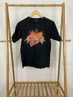 RARE VTG Flamehead USA JNCO Sktateboard Black Short Sleeve T-Shirt Size L USA