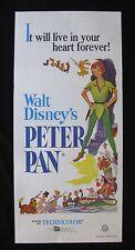 PETER PAN Original Australian daybill movie poster Walt Disney animation cartoon